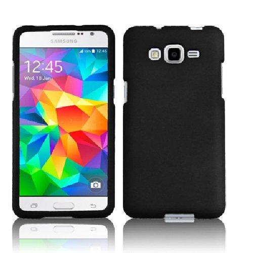 Samsung Galaxy Grand Prime LTE G530H G530F (Cricket), LF 4 in 1 Bundle, Hard Case Cover, Stylus Pen, Screen Protector & Wiper Accessories (Hard Black)