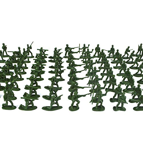 DICPOLIA Toys 100 Piece Tiny Military Army Man Playset, Various Pose Toy Soldiers Figures, Army Men Green Toy Soldiers, Toy Soldiers (Random)