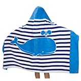 Comfysail Kids Hooded Beach Bath Towel 100% Cotton Super Soft Childrens Poncho Swimming Girls Boys