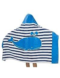 Comfysail Kids Hooded Beach Bath Towel 100% Cotton Super Soft Childrens Poncho Swimming Girls Boys