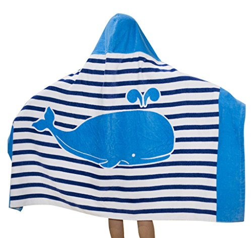 Amazon.com: Comfysail Kids Hooded Beach Bath Towel 100% Cotton Super Soft Childrens Poncho Swimming Girls Boys (Crocodile): Home & Kitchen