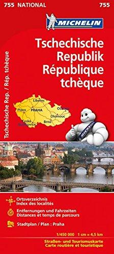 Michelin Tschechische Republik: Straßen- und Tourismuskarte (MICHELIN Nationalkarten, Band 755)