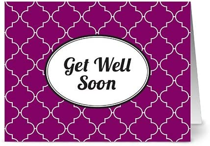 Blank Cards w//Grey Envelopes Included 24 Cards Modern Dots Get Well Soon Navy