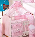 Luxury Baby Canopy/Mosquito Net 480 cm for Cot Bed + Holder/Rod (PINK CHECK)