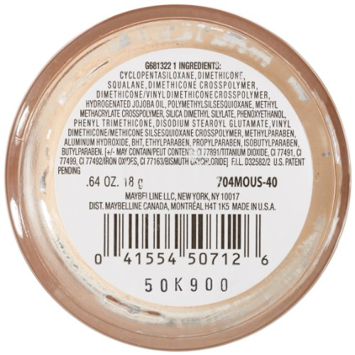 Maybelline New York Dream Matte Mousse Foundation, Nude, 0.64 Ounce, Packaging May Vary