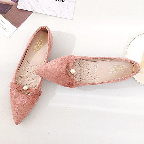 la Zapatos Biselado Rosa Mujer Punta Femeninos Plano Mujeres luz Decoración a de Calzado expuestas de Singles Qiqi Baja Zapatos Xue Zapatos wTqAvZxT