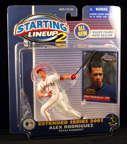 ALEX RODRIGUEZ / TEXAS RANGERS 2001 MLB Starting Lineup 2 EXTENDED SERIES Action Figure & Exclusive Trading Card