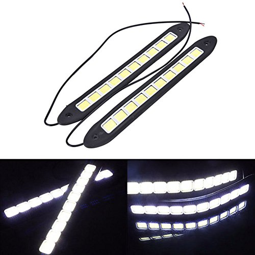 FidgetFidget Waterproof 12V LED COB Car Auto DRL Driving Daytime Running Lamp Fog Light 2Pcs
