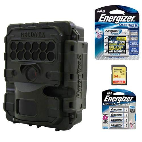 RECONYX HyperFire 2 HF2X Gen3 3MP 720p Day and Night Outdoor Covert IR Camera, 150′ Night Vision, OD Green – with Panasonic Eneloop (AA) 2000 mAh Rechargeable Ni-MH Battery (12 Pack), 32GB SDHC Card
