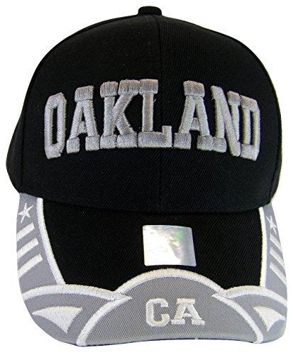 Oakland Men's Stars & Stripes Adjustable Baseball Cap (Black/Gray) ()