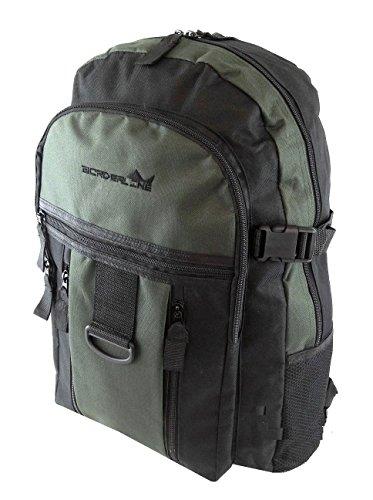 Herren-/Jungen-Rucksack, Sport, Arbeit, Fitness, Schule, Reisen, Wandern, mit Taschen Mehrfarbig - Black/Khaki