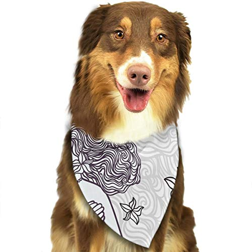 (FRTSFLEE Dog Bandana Spiritual Magical Mermaid Woman Scarves Accessories Decoration for Pet Cats and)