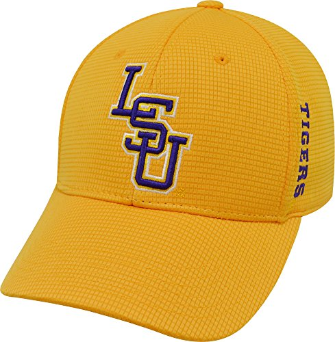 Top of the World Men's LSU Tigers Gold Booster Plus 1Fit Flex Hat (OneSize) ()