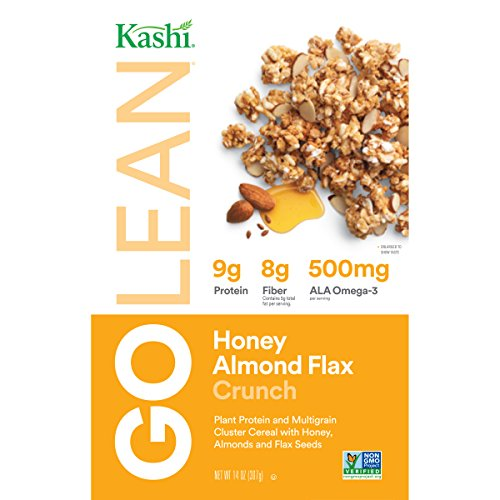 Kashi GOLEAN Crunch! Cereal, Honey Almond Flax, 14-Ounce Boxes (Pack of 4) (Fiber Kashi Cereal High Cereal)