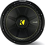 Kicker 12 Inch CompC 300 Watt RMS 4 Ohm Single Voice Coil Subwoofer | 44CWCS124