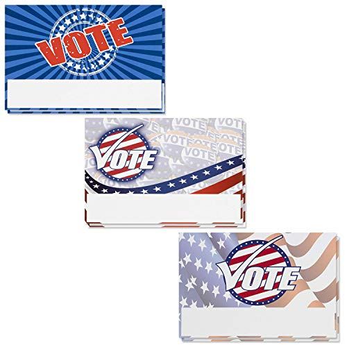 Vote Postcards - 120-Pack Postcards for Voters, Get Out the Vote Cards, Write Representatives, Election Accessories, Americana Theme, Patriotic Red White Blue Design, 4 x 6 Inches