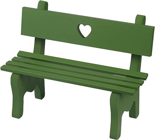 vosarea miniatura decorativa Mini Madera Banco de jardín decorativa fotográfico Requisiten para muñecas (Muebles de Jardín Jardín Decoración (verde): Amazon.es: Hogar