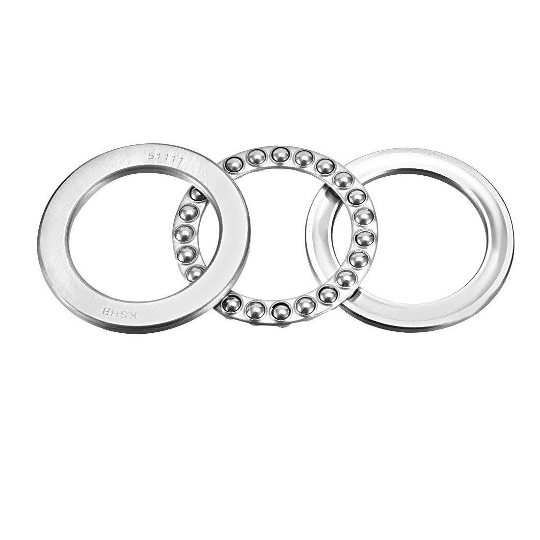 sourcingmap 51111 Single Direction Thrust Ball Bearings 55mm x 78mm x 16mm Chrome Steel a18062000ux0251