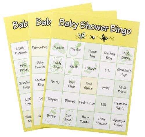 Baby Shower Bingo Game, 72 -