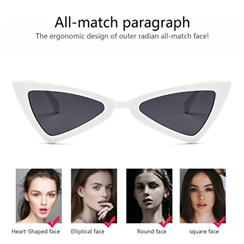 de de para UV400 de ojo diseño mujer gato de sol de Gafas sol viaje gafas triángulo S4axqwap
