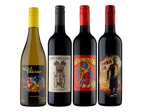 Craft Wine Select Mixed Pack NV California Chardonnay, Cabernet Sauvignon, Zinfandel, Red Wine Blend, 4 Pack 750 ml 4 x 750 mL