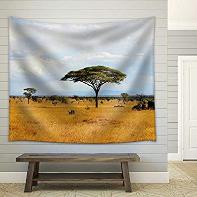 Crafted to Perfection, Incredible Composition, African Savanna Landscape in Kenya Fabric Wall