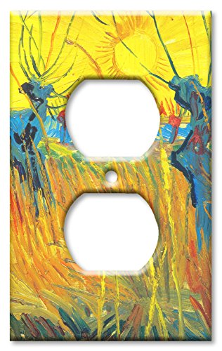 h: Pollard Willow & Sunset Switch Plate - Outlet Cover ()