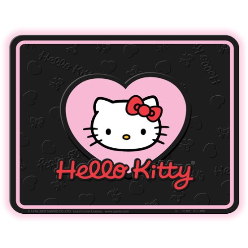 Hello Kitty Sanrio 1pc Black Rubber Universal Car Truck Utility Floor Mat
