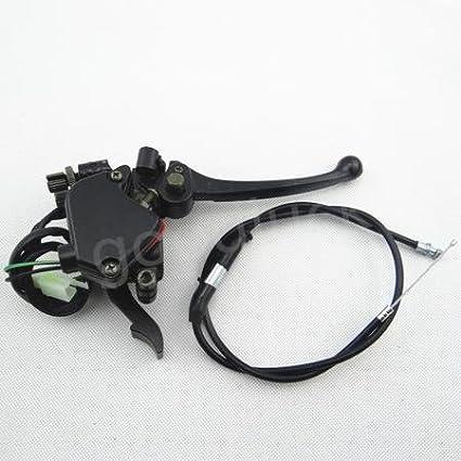 Huopu pouce d'accé lé rateur Accé lé rateur Levier de frein + câ ble pour 110 -125 CC chinois ATV Quad