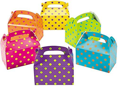 Bright Polka Dot Treat Boxes (set of 12) - Party Supplies