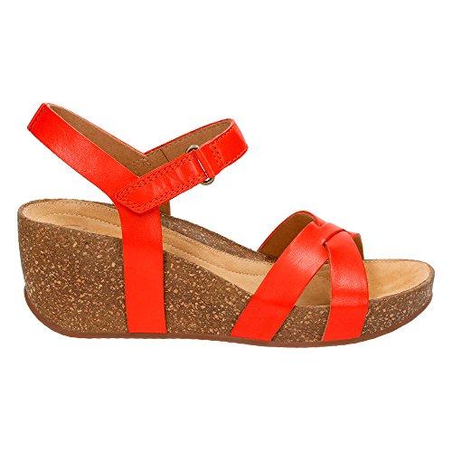 Clarks Kvinna Temira Kompass Wedge Sandal Grenadin Läder