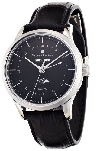 Maurice Lacroix Men's LC6068-SS00133E Les Classiques Black Moonphase Dial Watch
