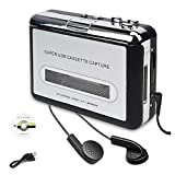 usb portable cassette player - Cassette Player, Portable Cassette Tape Converter, Convert Cassette Tape to MP3 CD Via USB