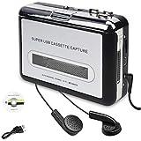 Cassette Player, Portable Cassette Tape Converter, Convert Cassette Tape to MP3 CD Via USB
