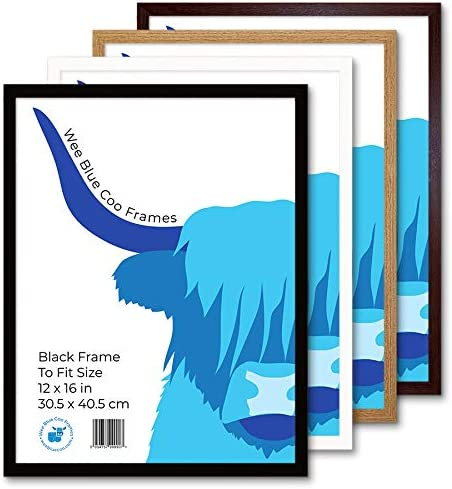 Wee Blue Coo A3 Brown Wooden Picture Frame 11.7 x 16.5 inch Acrylic Safety Glass Photo Frame 29.7 x 42cm