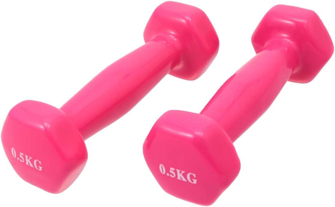 2 Kg Homoyoyo 2Pcs Halt/ères en Fonte de Trempage en Plastique Halt/ères de Fitness Antid/érapants Poids /à Main /Équipement de Fitness Unisexe Gym Halt/ère pour Femme Homme