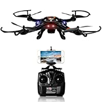 SZJJX FPV Drone with HD WiFi Camera Live Video, Altitude Hold and One Key Taking-Off & Landing, Phone Controlled RC Quadcopter
