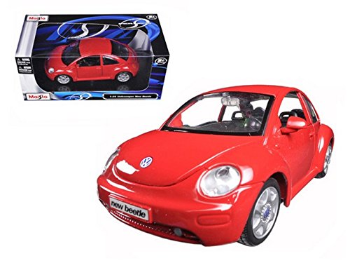 Volkswagen New Beetle Coupe Yellow 1:25 Diecast - New Beetle Coupe