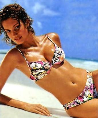 ccf91ff3e0c8a Push-up-Bikini mit Comic-Print Gr. 32 AA-Cup: Amazon.de: Bekleidung
