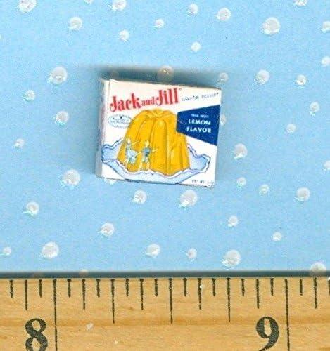 Dollhouse Miniatures SIZE  Vintage  Jack n Jill Lemon Jello Box