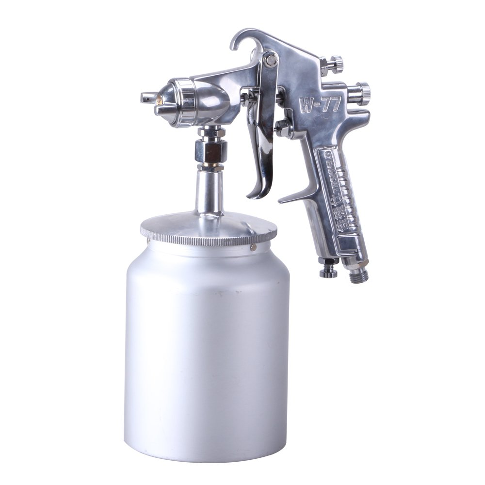 W71 Siphon Feed Precise Air Paint Spray Gun, Pneumatic Low Pressure Sprayer with 600cc Aluminium Alloy Cup, 1.5mm Nozzle