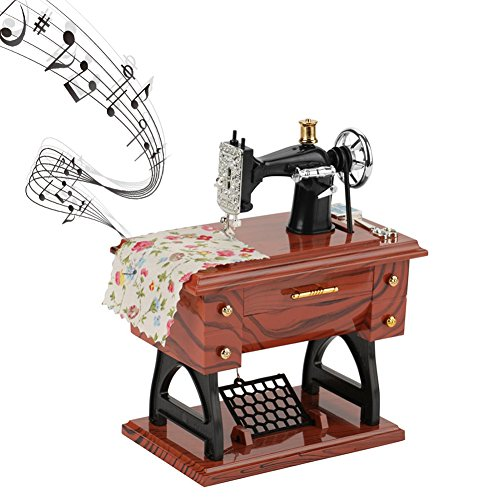 (Classic Music Box Sewing Machines Model Mechanical Lovely Music Box Retro Music Box for Boys Girls Gifts Home Decoration)