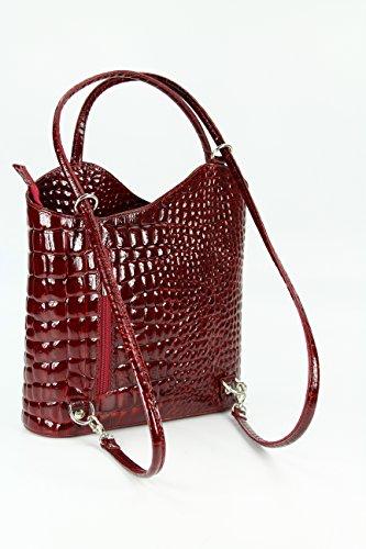 Belli Bolso mochila de cuero para mujer rojo rojo -arbunize.es