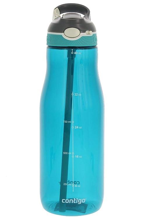 Amazon.com: Contigo AUTOSPOUT - Botella de agua con pajita ...