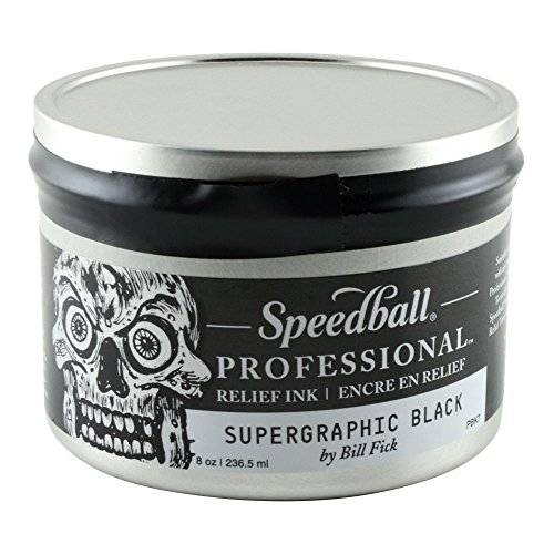 Speedball Professional Relief Inks - Super Graphic Black - 8oz by Speedball