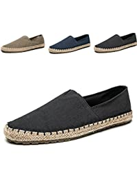Mens Fashion Casual Cloth Shoes Canvas Slip-on Loafers Espadrille Leisure Walking Sneakers Moccasins Boat