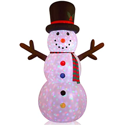 Image Unavailable. not available for. Color: 8FT Inflatable Snowman Indoor Outdoor Christmas Decorations Amazon.com: