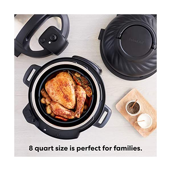 Instant Pot Duo Crisp Pressure Cooker 11 in 1, 8 Qt with Air Fryer, Roast, Bake, Dehydrate and more 5