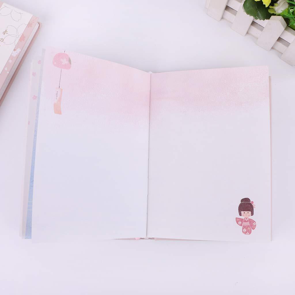 GROOMY Kawaii Cute Sakura Flower Daily Planner Mensile settimanale Piano Notebook Programma Notepad Memo Pad Forniture per Ufficio Fiore Rosa