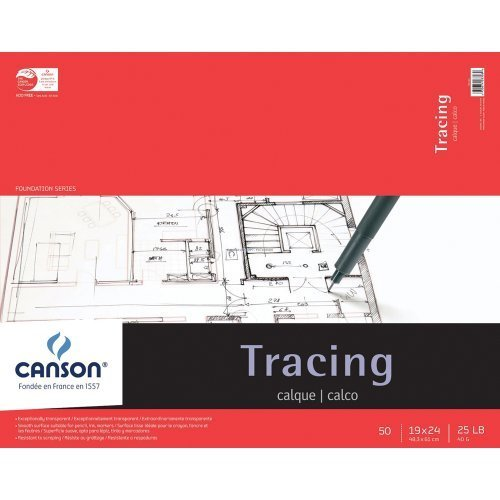 Pro-Art 702324 Canson Tracing Paper Pad, 19 X 24-Inch, 50 Sheets by Parrot